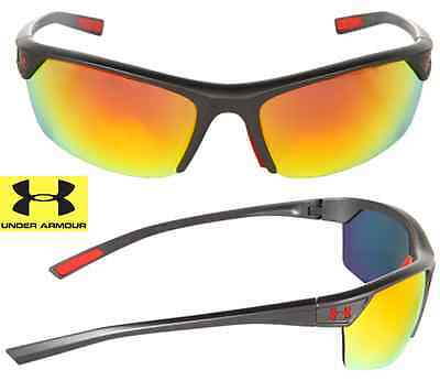 48f6875fb2c1 NEW* Under Armour ZONE BLACK Graphite Mirrored Orange Fire Lens Sunglass  $140