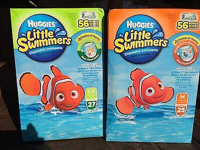 Bonus Packages Of Huggies Little Swimmers Diapers 25 M Or  27 S Ct W/ 56 Wipes