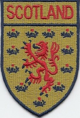 Scotland Rampant Lion Flag Patch/Badge Iron/Sew-On