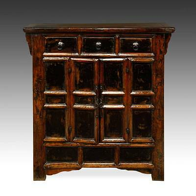 Fine Antique Chinese Shanxi Painted And Lacquered Cabinet Or Sideboard 19Th C
