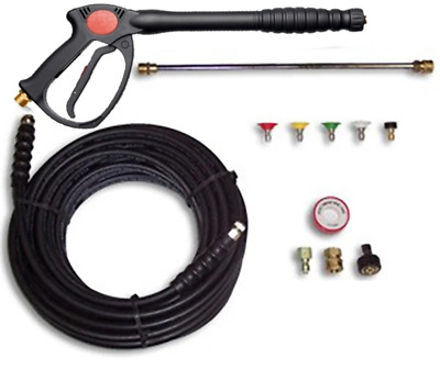 Deluxe Pressure Washer SPRAY GUN, WAND, 50' HOSE & TIPS 4000PSI Fits Hotsy
