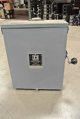 Square D Double Throw Safety Switch DTU223NRB 100 Amp 120/240v 2 Pole non fused