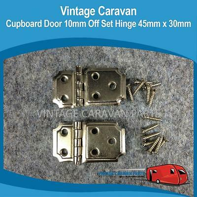 Caravan CUPBOARD DOOR 10MM OFFSET HINGE 45MM X 30MM Vintage Millard H0139