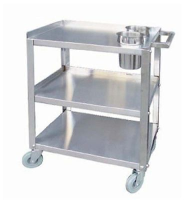"""Heavy Duty Stainless Steel Utility Cart 16"""" x 24"""" - Knock Down - PC1624-2"""