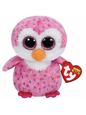 Glider The Pink Penguin  Ty Beanie Boos  Brand New