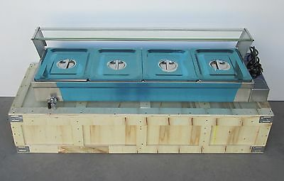 4-Pans Food Warmer Counter Top Bain Marie Buffet Steam Table 110V 1500W