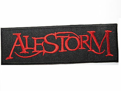 """ALESTORM Heavy Metal Embroidered Sew On Iron On Jacket Patch 4.9"""""""