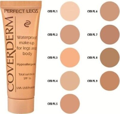 Coverderm Perfect Legs - Waterproof Make-Up 50ml - Chose Your Shade!