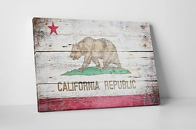 """Republic of California Vintage Flag Gallery Wrapped Canvas 16""""x20"""""""