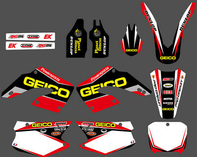 TEAM DECALS GRAPHICS BACKGROUNDS For HONDA CR250 CR125  2000 2001 RED D1