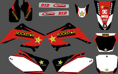 Team Graphics Decals For Honda Cr125 Cr250 2002 03 04 05 06 07 08 09 10 11 12 D5