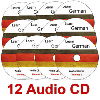 Learn to speak GERMAN - Complete Language Training Course - 12 AUDIO CDs no DVD