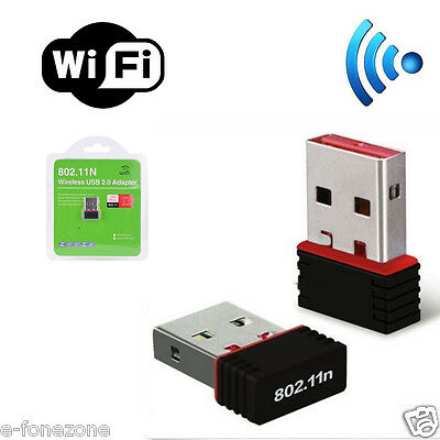 MINI WIFI 150Mbps WIRELESS ADAPTOR 802.11 G N LAN NETWORK USB DONGLE ADAPTER