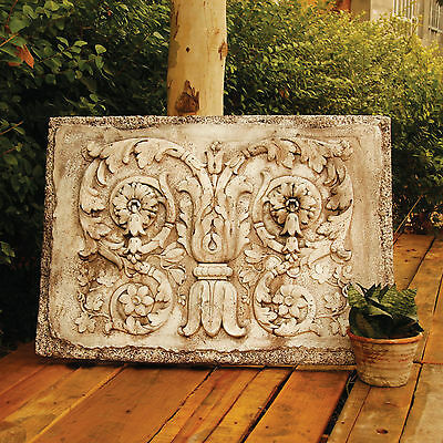 Ancient Architectural Tanzarian Scrolls Wall Art Sculpture Relief Plaque-Orlandi