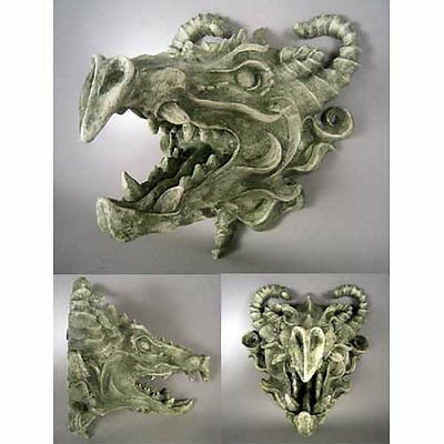 Dragon Head Wall Art Sculpture Plaque by Orlandi -Avail. in 13 Designer Finishes