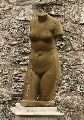 Female Nude Torso Statue Sculpture by Orlandi-Ok for Outdoor Garden Use