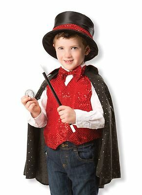 Childrens Magician Sorcerer Fancy Dress Costume Outfit Boys Girls Age 3-6
