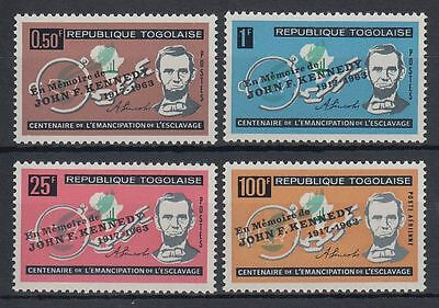 Togo 1964 ** 407/10 A Lincoln Kennedy Präsident President [sq4692]