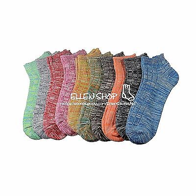 10 Pairs New Fashion Cotton Women Girls Ankle Low Cut Casual Socks 9-11