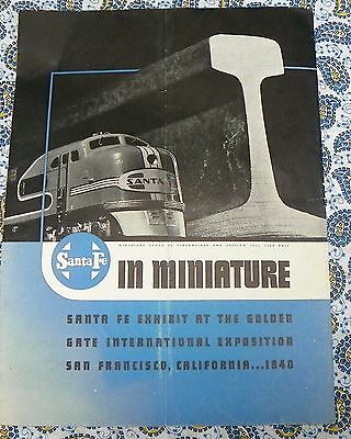 Santa Fe Railroad Display in Miniature at the Golden Gate Exposition Ad 1940