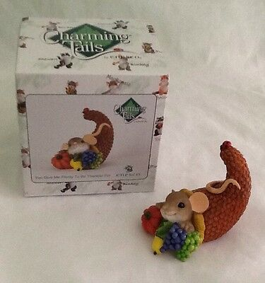 Charming Tails You Give Me Plenty To Be Thankful For Fitz And Floyd 2013 Enesco
