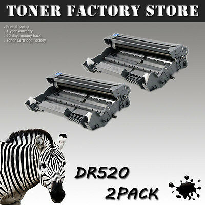 2PK DR520 Drum For BROTHER DCP-8060 8065 8065DN HL-5200 5240 5240LT 5250 5250DN