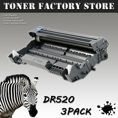 3PK DR520 Drum For BROTHER DCP-8060 8065 8065DN HL-5200 5240 5240LT 5250 5250DN
