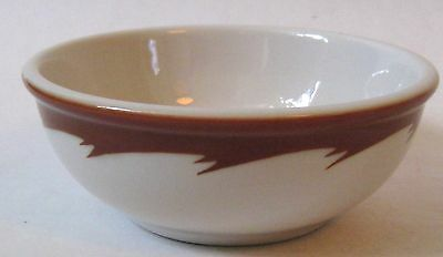 Three Vintage Vitrified China Cereal or Chili Bowls Marked Ohio U.S.A.