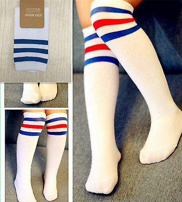 Children Kids Girl Boy under knees School Cotton Long Soccer Socks stockings