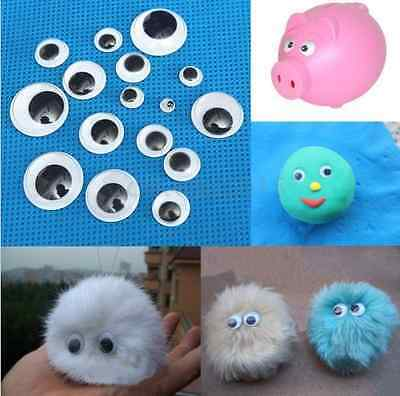 100PCS 5-20mm Wiggly Wobbly Googly Doll Eyes No Tape Scrapbooking Crafts