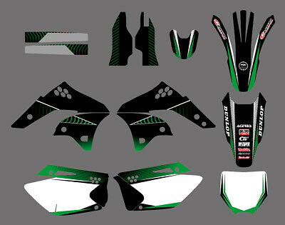TEAM GRAPHICS BACKGROUNDS DECALS For KAWASAKI KX250F KXF250 2006 07 2008