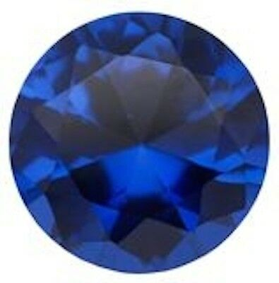 Synthetic Lab Created Blue Spinel AAA Flame Fusion Round Loose stone (3mm-15mm)
