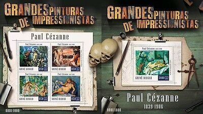 Z08 IMPERFORATED GB15805ab GUINEA-BISSAU 2015 Paul Cezanne MNH Set