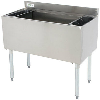 """NEW Underbar 18"""" x 36"""" Stainless Steel NSF Silver Commercial Ice Bin"""