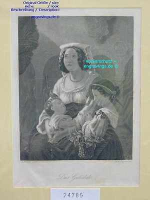 24785-Frauen-Woman-Italien-Italy-Italia-Mutter-Mother-Stahlstich-Steel engraving