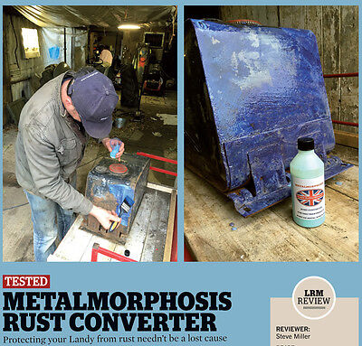 land rover chassis bulkhead Rust Converter,treatment 1 LTR Land Rover Blogger