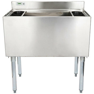 "NEW 18"" x 30"" Underbar Stainless Steel NSF Silver Commercial Ice Bin"