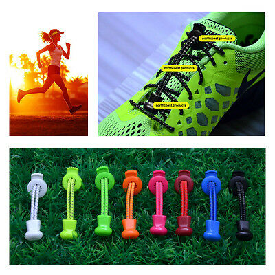 2016 Locking Laces Elastic Shoelace System No Tie Laces - NEW - Free Shipping