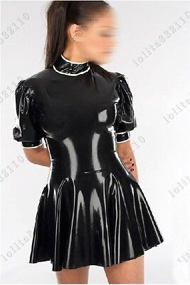 455 Latex Rubber Gummi Dresses One-piece full-skirted catsuit customized 0.4mm