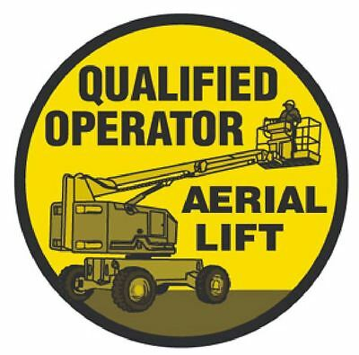 Qualified Aerial Lift Operator Hard Hat Decal Hardhat Sticker Helmet Label H106