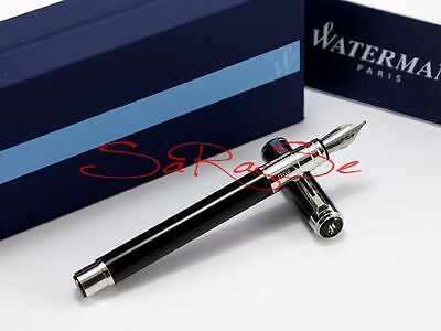 Waterman Perspective Black C.c.füller Fountain Pen Schwarz Palladium