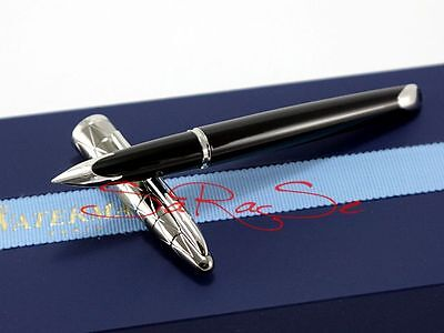 Waterman Carene Füller Fountain Pen Lack Schwarz Gunmetal 18 Kt. Edson Feder
