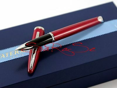 Waterman Carene Füller Fountain Pen Lack Rot Glossy Red 18 Kt. Edson Feder