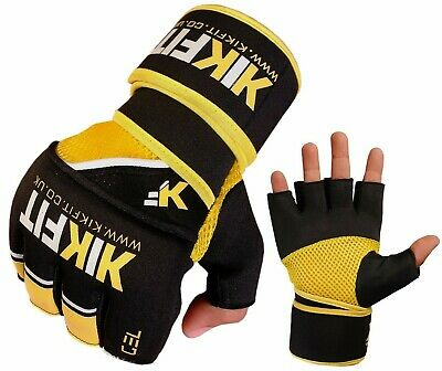 Kikfit Gel Grappling Mma Gloves Boxing Hand Wraps Muay Thai Training Punch Bag