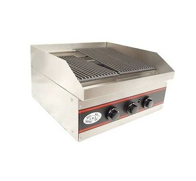 "Gas Charbroiler Charcoal Broiler 18""  Natural Gas - NSF"