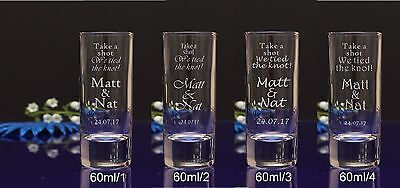 100 Individual Personalised Engraved 60ml Shot Glass