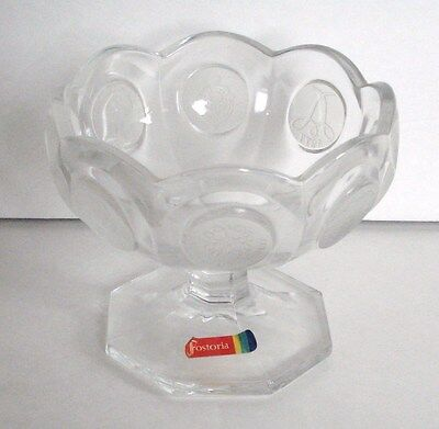 Vintage Made For Avon Fostoria Coin Glass Pedestal Compote Jelly Dish
