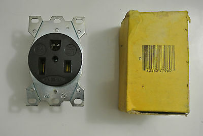 HUBBELL WIRING DEVICE-KELLEMS HBL9367 Receptacle, 50A, 250V, 6-50R, 2P, 3W, 1PH