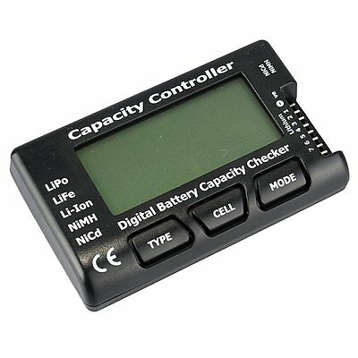 RC Cell Meter-7 Digital Battery Capacity Checker for NiCd/NiMH/LiPo SY AU