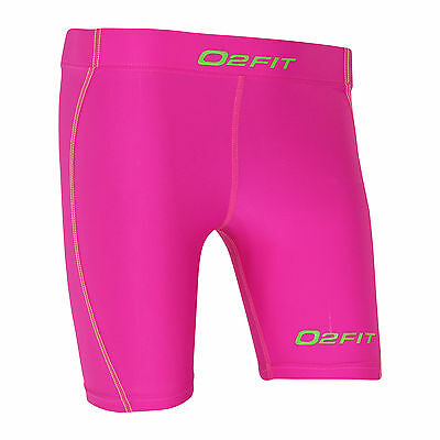 Womens Pink Compression Shorts New Ladies Running Sports Gym Run Base New Layer